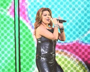 Shania Twain performs on Saturday night in Dunedin. Photo: Stephen Jaquiery