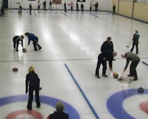 Two curling matches are played on the Maniototo indoor rink at Naseby. Image from ODT files.