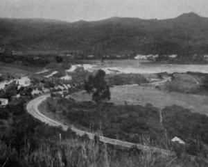 A general view of Waitati, the settlement on Blueskin Bay, which in its early days, was a noted...