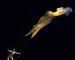 An enormous canopy of hovering silk defied gravity as Air Play performed at the Regent Theatre...