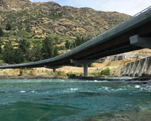 The Kawarau Falls Bridge, where young people have been seen jumping into the river. Photo: Joshua...