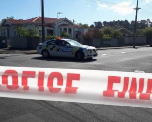 Police have cordoned off Wicksteed St and Liverpool St in Whanganui. Photo: NZ Herald