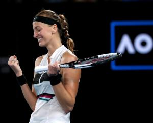 Petra Kvitova celebrates her victory. Photo: Reuters