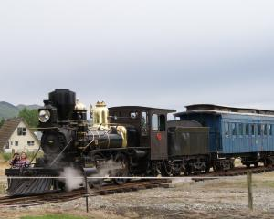 The Rogers K92 steam locomotive, restored by the Fiordland Vintage Machinery Club and the Waimea...
