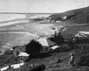 Ahipara, a settlement at the extreme south end of 90 mile beach, North Auckland. — Otago Witness,...