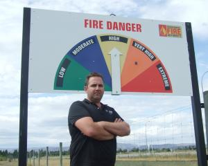 Otago Rural Fire Authority deputy principal rural fire officer Bobby Lamont reminds people of the...