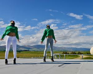 Dancers perform at Niwa's atmospheric research station in Lauder during the filming of Lungsong...