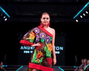 Sophie Mathias, of Alexandra, models Gore designer Andre Johnston's supreme winning garment ''For...