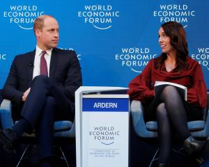 Jacinda Ardern and Prince William talk mental health at the World Economic Forum. Photo: Reuters