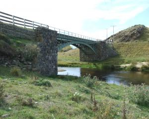 The swimming hole at the green bridge over the Taieri River at Waipiata has been given a clean...