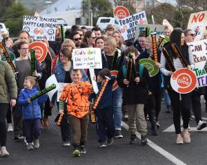 Teachers are protesting after almost a decade of meagre pay increases. Photo: ODT files