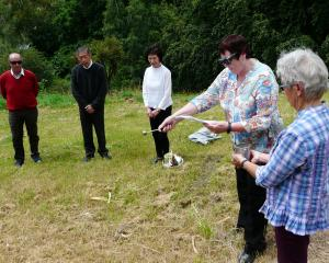 South Otago Catholic pastoral area assistant Stephanie Swann and helper Maureen Cummings, of...