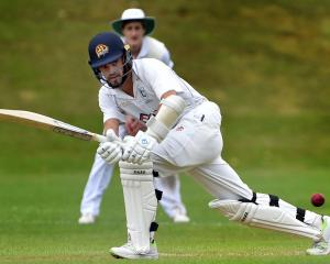 Kaikorai batsman Michael Rippon clips the ball off his pads during  his innings of 114  in a...