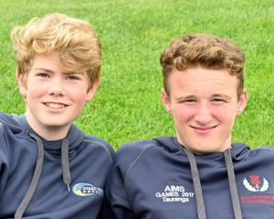 Michael Buttery (14) and Matheson Colquhoun (14) both of Dunedin.