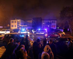 Site of a fire which broke out in an escape room in Koszalin. Photo: Reuters