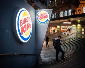 Fast food chain Burger King logo seen on Queen Street in Auckland. Photo: Getty Images