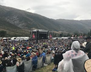 Concertgoers at Gibbston Valley Winery Summer Concert today. Photo: Daisy Hudson