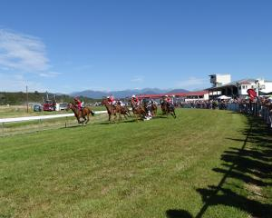 Thousands turned out for the races in Hokitika this year. Photo: Greymouth Star