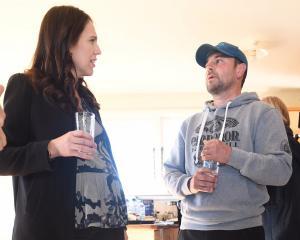 Prime Minister Jacinda Ardern meets Morven sharemilker Leo Bensegues in May last year. Mr...