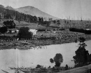 A scene on the Owaka River, with Jacob's Hill in the foreground. - Otago Witness, 1.1.1919.