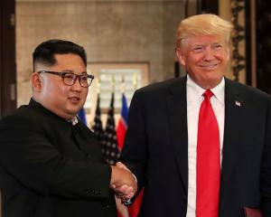 Kim Jong Un and Donald Trump met on the resort island of Sentosa in Singapore in June last year.