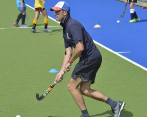 Australian hockey star Mark Knowles coaches Dunedin hockey players at the McMillan Centre...
