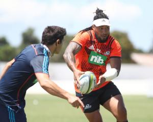 Ma'a Nonu at Blues training before Christmas. Photo: Getty Images