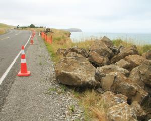 Rocks are stored at Beach Rd as up to four sites along the scenic route south of Oamaru await...