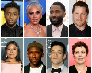 "Best picture Oscar nominees for the 91st Academy Awards (Top L-R) Boseman ""Black Panther"", Gaga ..."