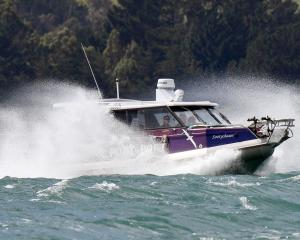 MV Sootychaser, operated by Rachel McGregor, returns from a wildlife cruise on the Otago Harbour....