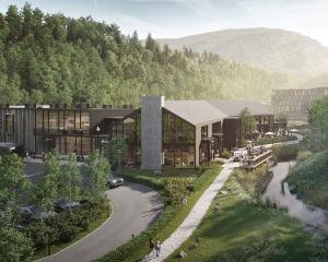 An artist's impression of the proposed Waterfall Park development's hotel reception and...