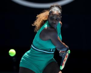 Serena Williams in action during her Australian Open loss. Photo: Getty Images