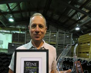 Quartz Reef viticulturist and winemaker Rudi Bauer, of Cromwell, was awarded the The Gourmet...
