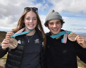 Winter Olympic bronze medallists Zoi Sadowski-Synnott and Nico Porteous arrived home in Wanaka...