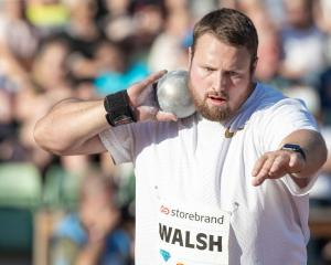 Tom Walsh throws during the Diamond League earlier this year. Photo: Getty Images
