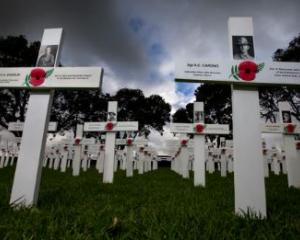 Crossing remembering the 18,000 New Zealanders who fell in the Great War. Photo: NZME