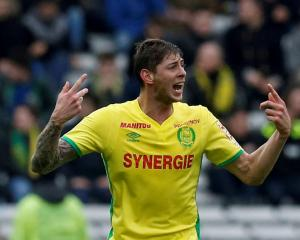 Emiliano Sala in action for Nantes. Photo: Reuters