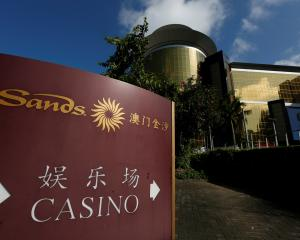A view of Sands Macao casino is seen in Macau, Photo: Reuters