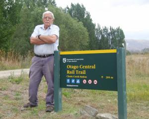Vincent councillor James Armstrong is concerned about the Otago Central Rail Trail crossing at...