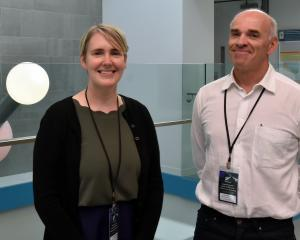 Researchers Dr Christina McGraw and Prof Cliff Laws at the University of Otago. PHOTO: GREGOR...