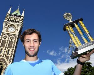 Competitor Cameron Miller was in the lead from the start, to win the Clocktower Race trophy....