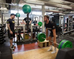 Chris training with the Breakers development team. Photo: RNZ