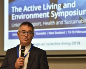 Dunedin Mayor Dave Cull advocates healthier forms of transport. Photo: Gregor Richardson