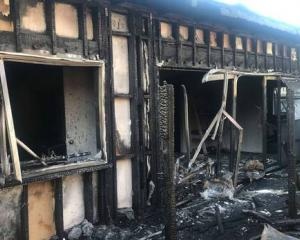 The outside of the South Auckland studio after the fire. Photo: Supplied