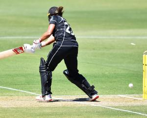Suzie Bates is clean bowled by Ellyse Perry during the second ODI between NZ and Australia in...