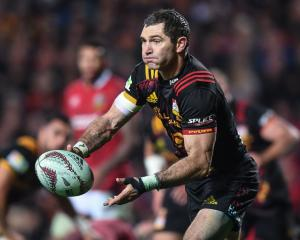 Stephen Donald in action for the Chiefs against the British and Irish Lions in Hamilton in June...