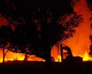 A bush blaze rages near Marysville on Black Saturday (Feb 7, 2009) in Victoria. Photo: Getty
