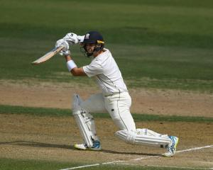 Mark Chapman strokes the ball through the off side. Photo: Getty Images