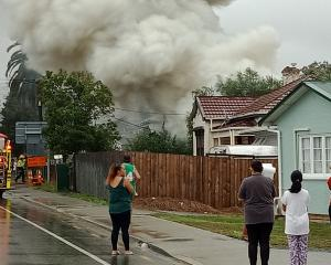 A huge blaze is being fought on Maunu Rd in Whangare. Photo: Supplied via NZME