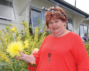 Irene Benfell-Herron of Aden Motel Te Anau and long time exhibitor of the Te Anau District Autumn...